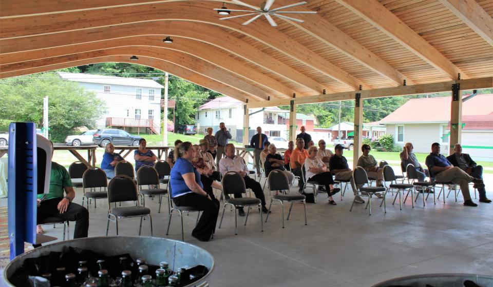 Guests gather to hear from special guests at the Ribbon Cutting Ceremony.